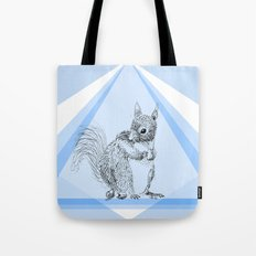 Squirrel stealing nuts Tote Bag