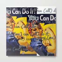 We Can All Do It Metal Print