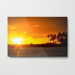 Sunset in the Tropics Metal Print