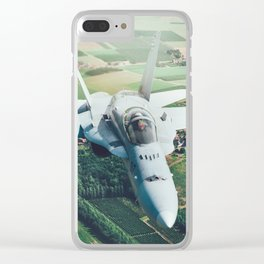 A pair of Hornets Clear iPhone Case