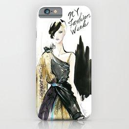 NYFW Fashion Illustrations iPhone Case