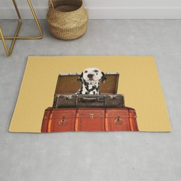 Dalmatian in suitcase - luggage with dog Rug