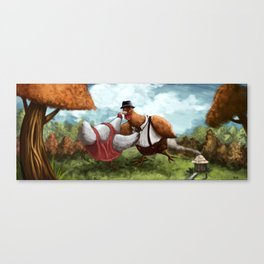 Chicken Dancing Canvas Print