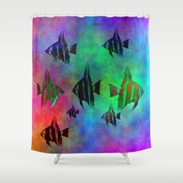 fishs in colors Shower Curtain
