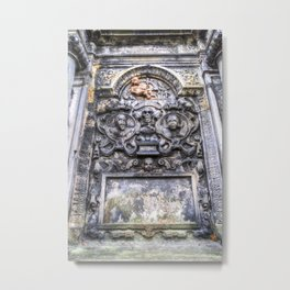 Ancient Grave Stone Greyfriars Kirk Graveyard Metal Print