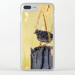Savannah Sparrow and Sunrise Clear iPhone Case