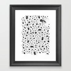 f-ing flies Framed Art Print