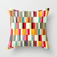 stripes Throw Pillows featuring Stripes by Danny Ivan