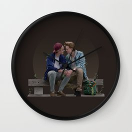 LOVE, EVAK. (dark version) Wall Clock