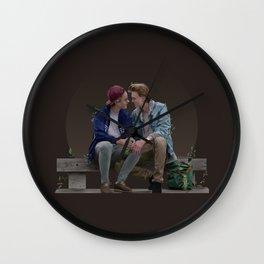 LOVE, EVAK. (dark version) Wall Clock