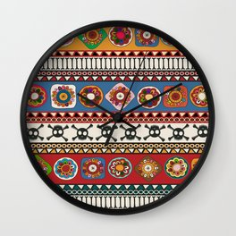 Aztec background Wall Clock