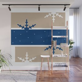 A hint of Christmas (Blue) Wall Mural
