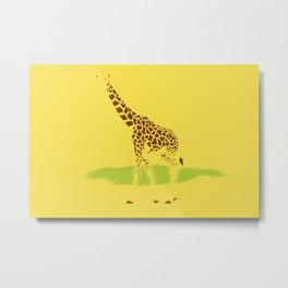 Giraffe under the Sun Metal Print