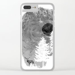 Nature's print Clear iPhone Case