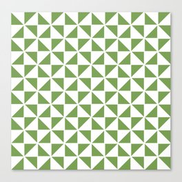 Pinwheel Quilt Pattern in Apple Green Canvas Print