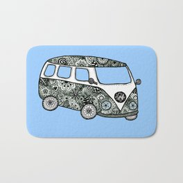 Blue bus Bath Mat