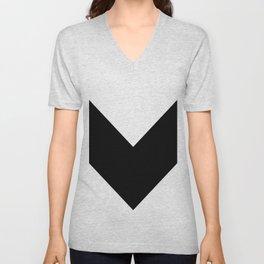 Chevron (Black & White) Unisex V-Neck