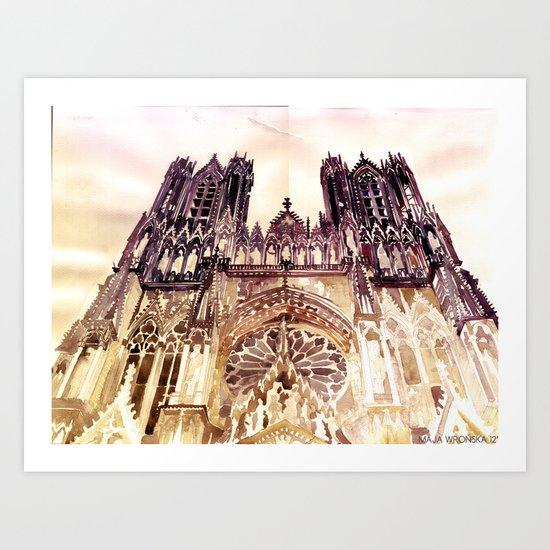 Reims Art Print