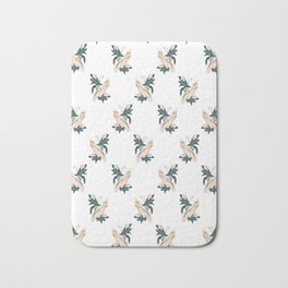 Pink Cockatoo Bath Mat