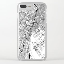 Tokyo White Map Clear iPhone Case