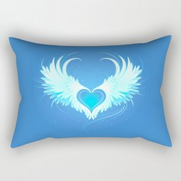 Angel heart with white wings Rectangular Pillow