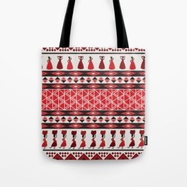 African Tribal Pattern No. 85 Tote Bag
