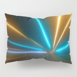 Light Trails in the Dark,Traffic Light Trails,AbstractTraffic Lines Pillow Sham