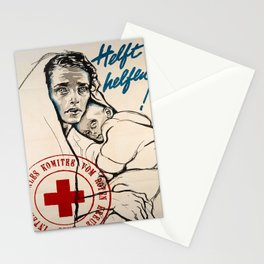 Advertisement helft helfen internationales Stationery Cards