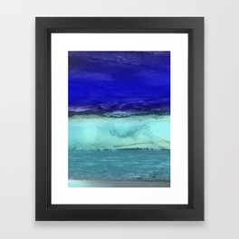 Midnight Waves Seascape Framed Art Print