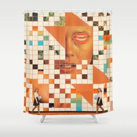 poem Shower Curtains featuring Orange poem by Mariano Peccinetti