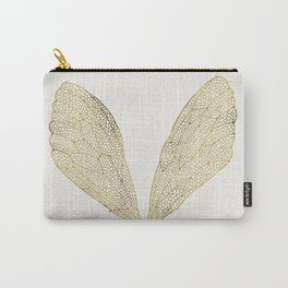 Cicada Wings in Gold Carry-All Pouch
