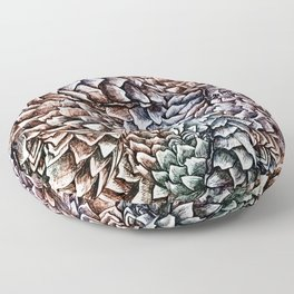 Artichokes and Pangolins Muted Floor Pillow