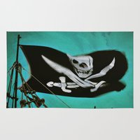 "pirate ship Area & Throw Rugs featuring ""Pirate Ship"" by Bella Blue Photography"