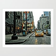 Hot Times in The City Art Print