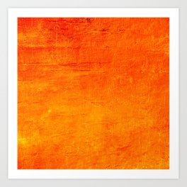 Orange Sunset Textured Acrylic Painting Art Print