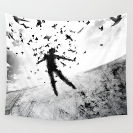 Birds in the head Wall Tapestry