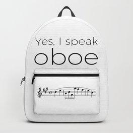 Yes, I speak oboe (2) (white) Backpack