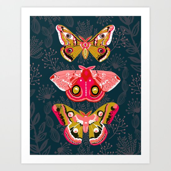 Lepidoptery No. 4 by Andrea Lauren Art Print