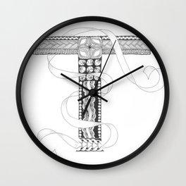 """Zenletter """"T"""" Wall Clock"""