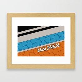 Borderlands Maliwan Brand Framed Art Print