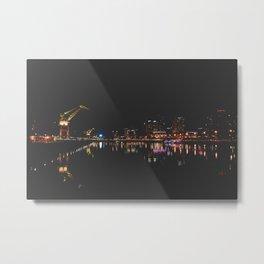 Puerto Madero at night, Buenos Aires, Argentina. Metal Print