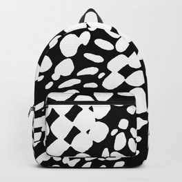 DOTS DOTS BLACK AND WHITE DOTS PATTERN Backpack