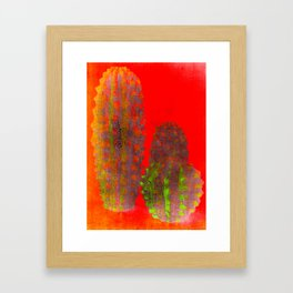 three cactus Framed Art Print