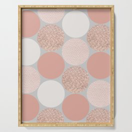 Rose Gold Dots Serving Tray