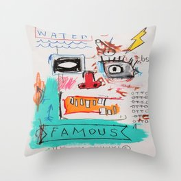 Basquiat Famous Throw Pillow