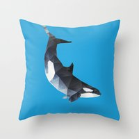 killer whale Throw Pillows featuring Killer Whale by The animals moved to - society6.com/dian