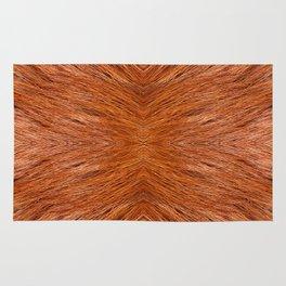 Red fox hairy fur texture cloth Rug