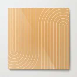 Minimal Line Curvature XII Metal Print