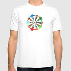 ONE HEART Mens Fitted Tee White MEDIUM