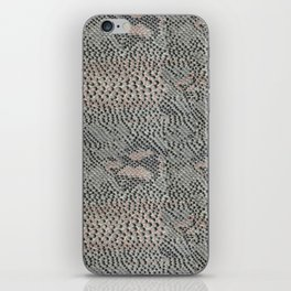 Soft Gray and Pink Snake Skin iPhone Skin